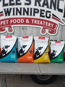 4 varieties of Riplees Ranch Pet Food
