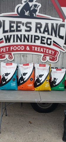4 varieties of Riplees Ranch Pet Food