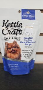 Kettle Craft Small Bite Canadian Bison and Blueberry Dog Treats