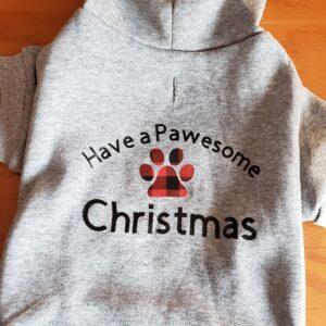 Pawsome Christmas Hoodie pet
