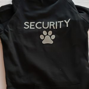 Black Security hoodie