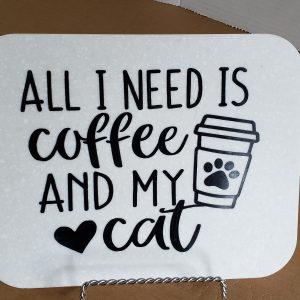 Coffee cat sign